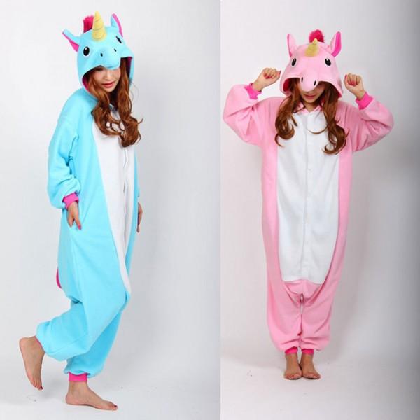 Unicorn Onesie Pink Blue Pyjamas Jumpsuits Rompers Adult Animal