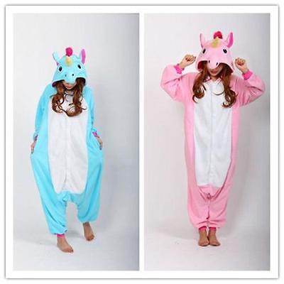 Unicorn Pajamas Animal Costume Unisex Adult Onesie Sleepwear