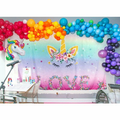 Unicorn Party Backdrop Magical Unicorn Kids Birthday Floral