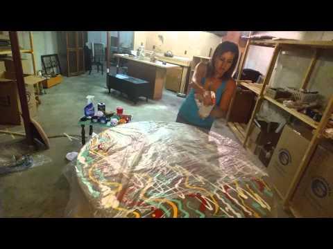 Unicorn Spit  Angel Fire Pt 1 Stain Press Technique