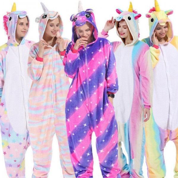Unisex Adult Unicorn Tenma Kigurumi Pajamas Cosplay Costume Animal