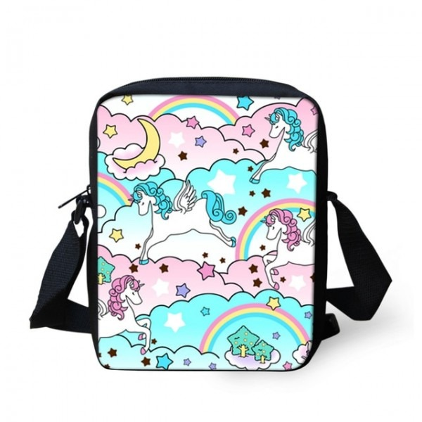Wholesale Cute Unicorn Horse Print School Crossbody Bag Cartoon