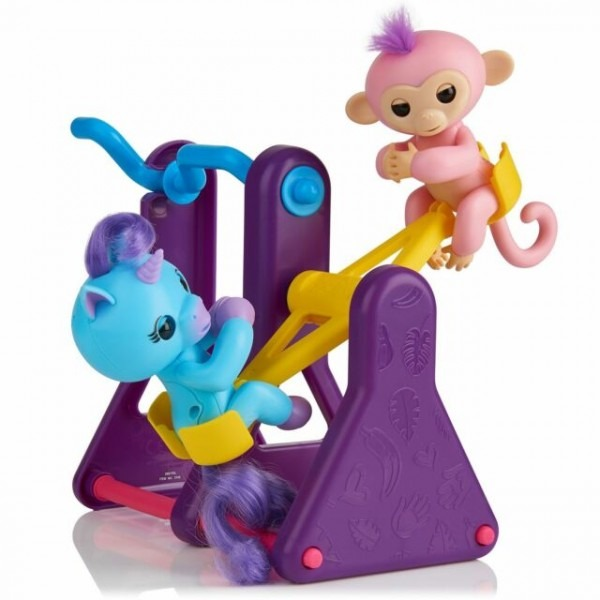 Wowwee Fingerlings Play Set See Saw With 2 Fingerlings Toys Coral