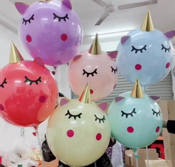 18 Inch 3d Unicorn Balloon Diy Unicorn Latex Balloons For Wedding