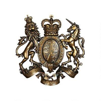 18 X 17  English Lion & Unicorn Of Scotland Royal Family Crest