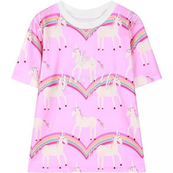 2017 Spring Womens Short Sleeve Unicorn T Shirt Harajuku Style