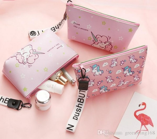 2019 Fashion Unicorn Cosmetic Bag Travel Case Portable Waterproof