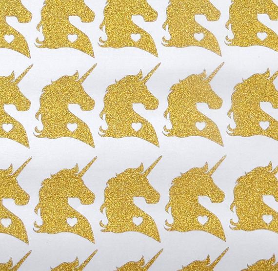 27 Glitter Unicorn Stickers Purple Unicorn Invitation Seal