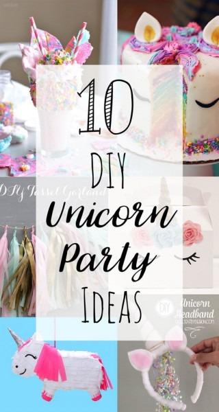 29 Veridical Advices Diy Unicorn Party Ideas