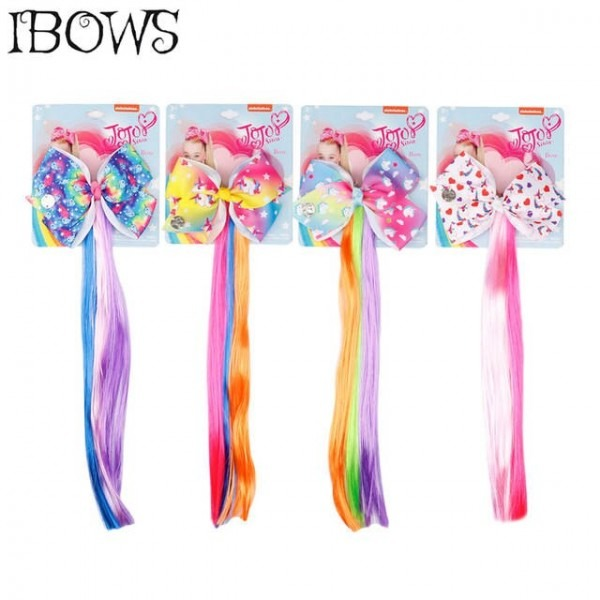 4 5'' Lovely Unicorn Hair Clips Cartoon Printed Hair Bows With