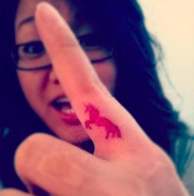 6 Unicorn Finger Tattoos Design