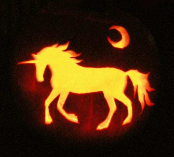 93 A Unicorn Pumpkin Carving Pattern Free Price
