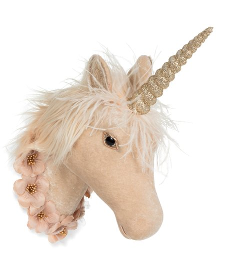 Abbott Pink & White Garland Unicorn Head Wall Décor