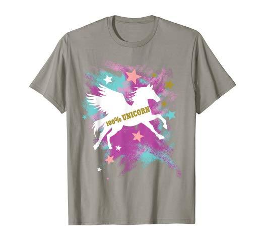 Amazon Com  100  Unicorn Silhouette Pastel Colors And Stars T