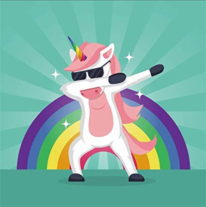 Amazon Com   Csfoto 5x5ft Background For Dabbing Unicorn Cool
