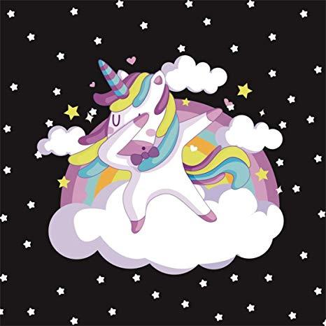 Amazon Com   Csfoto 8x8ft Background For Dabbing Unicorn Cool
