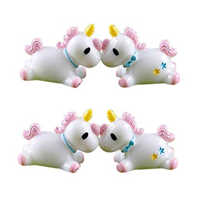 Amazon Com   Dingjin 4 Pcs Unicorn Mini Miniature Figurine Unicorn