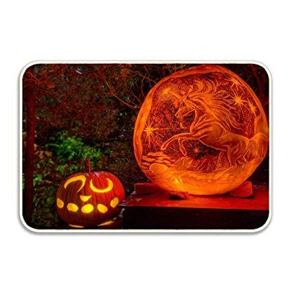 Amazon Com   Niaocpwy Cute Unicorn Pumpkin Carving Patterns Door