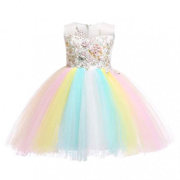 Amazon Com  Baby Girls Flower Fairy Costume Princess Rainbow Dress