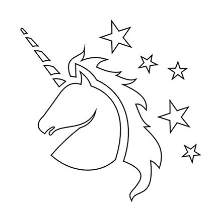Amazon Com  Badger Totally Tattoo Body Art Stencils Unicorn