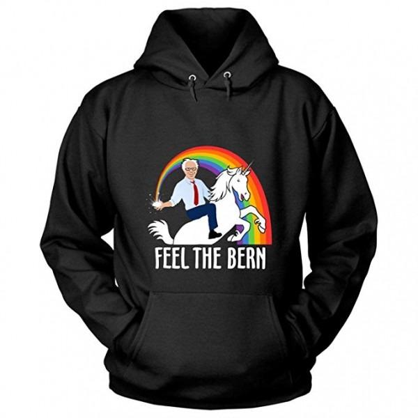 Amazon Com  Bernie Sanders Rides Unicorn T Shirt, Feel The Bern T