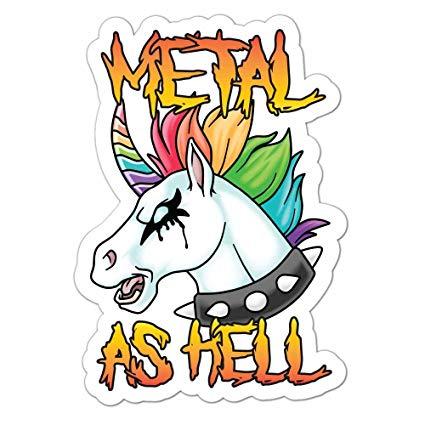 Amazon Com  Death Metal Unicorn Metal As Hell  Decal