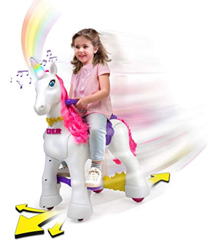 Amazon Com  Feber My Lovely Unicorn 12v Ride On