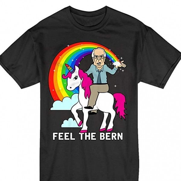 Amazon Com  Feel The Bern Unicorn Rainbow Bernie Sanders 2020