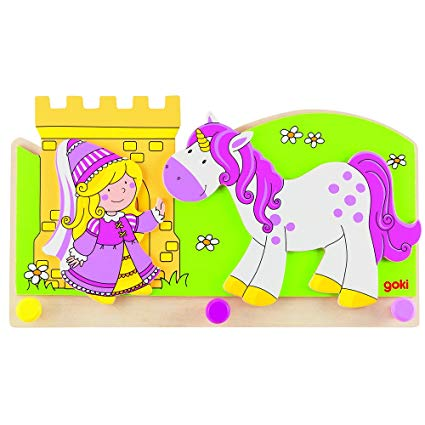 Amazon Com  Goki Children Little Princess With Unicorn Coat Rack