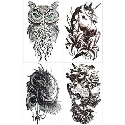 Amazon Com  Hakuna 4 Sheets Temporary Tattoos For Men, Lion