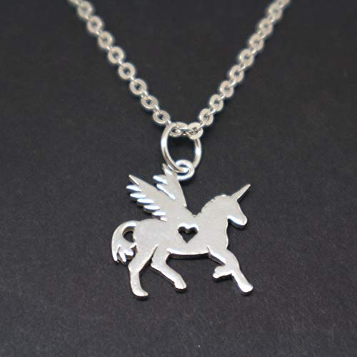 Amazon Com  Handmade 925 Sterling Silver Unicorn Necklace Pendant