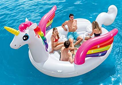 Amazon Com  Intex Unicorn Party Island, Inflatable Island, 198  X
