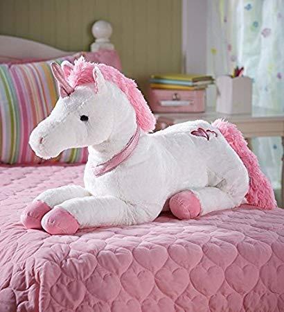 Amazon Com  Large Super Soft Plush Dazzle The Unicorn Stuffed