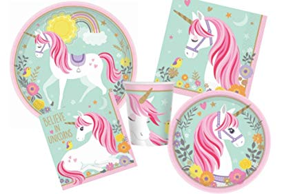 Amazon Com  Magical Unicorn Birthday Party Supplies Pack For 16