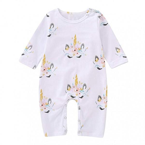 Amazon Com  Mikrdoo Baby Clothes Set Long Sleeve Bodysuit White