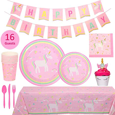 Amazon Com  My Greca Unicorn Party Supplies Set