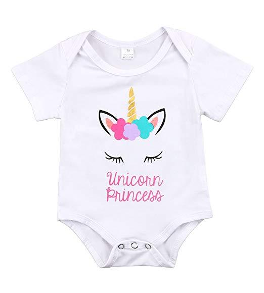 Amazon Com  Newborn Unisex Baby Girls Boys Unicorn Princess Short