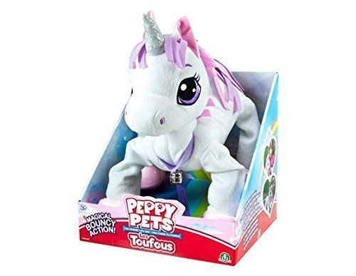 Amazon Com  Peppy Pets Magical Bouncy Action Unicorn  Toys & Games