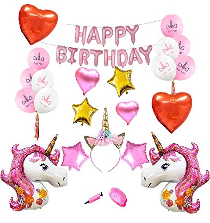 Amazon Com  Pink Unicorn Party Supplies For Girls Birthday