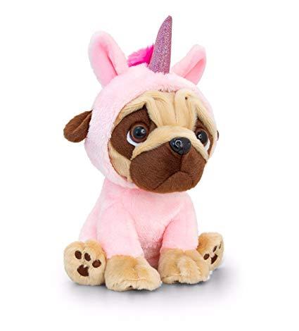 Amazon Com  Pugsley 14cm Pink Unicorn Pug Dog Soft Toy Teddy