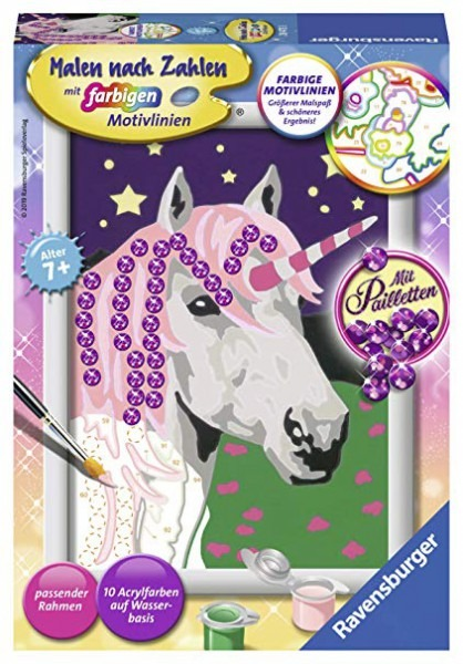 Amazon Com  Ravensburger 28473 28473 Unicorn Painting By Numbers