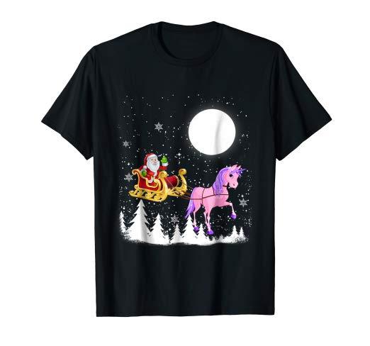 Amazon Com  Santa Christmas Unicorn T