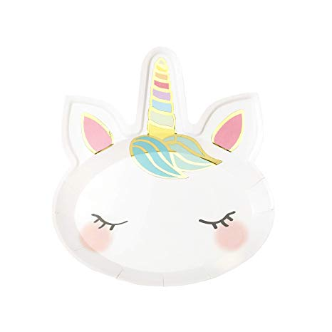 Amazon Com  Talking Tables Face Unicorn Paper Plates Birthday
