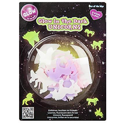 Amazon Com  Unicorn Glow In The Dark Stickers 14 Pcs Decal Wall