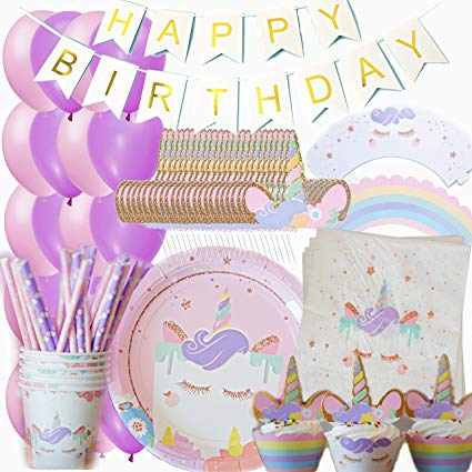 Amazon Com  Unicorn Party Supplies Set Birthday