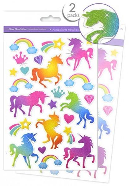 Amazon Com  Unicorn Stickers Shiny Stickers For Kids Glitter