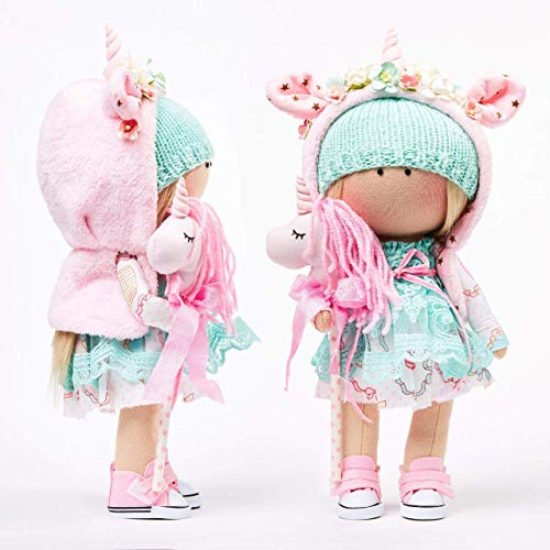 Amazon Com  Unicorn Textile   Cloth Rag   Tilda Handmade Doll