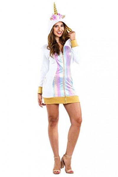 Amazon Com  Women's Adult Unicorn Costume Dress W Pockets