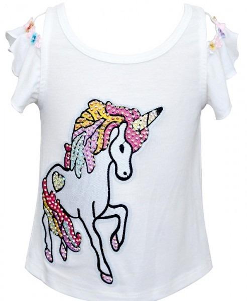 Baby Sara Cold Shoulder Unicorn Top  Preorder