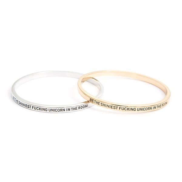 Be The Shiniest Unicorn In The Room Bangle